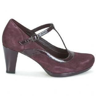 Clarks Chorus Pitch Aubergine Leather Womens Shoes